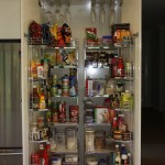 Hafele Tandem Pantry with Hafele Glass Holders